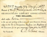 Skaneateles Libray Association Membership Card