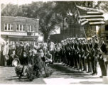 Dedication of Polish Amercan War Memorial in Pulaski Park, closer view