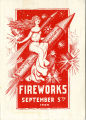1900 Saratoga Floral Association Fireworks Official Programme