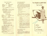 1952 Nursing Brochure