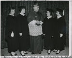 Saint Rose students with Bishop Scully