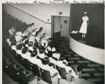 Nurses of the Class of 1948 addressing the Class of 1956