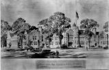 Architect's drawing of Plattsburgh State Normal School