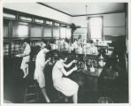 Russell Sage College students working in the Science Laboratory