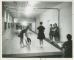 Physical Education students bowling at Russell Sage College