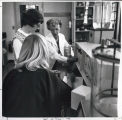 Dr. Van DerVoort with students in Science Lab
