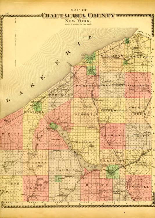 Map of Chautauqua County, New York - SUNY Fredonia - New York ... Chautauqua County Map on