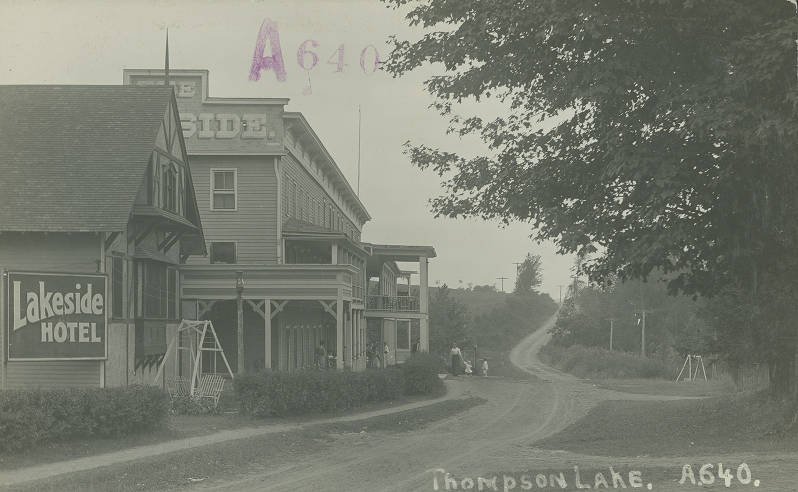 Lakeside Hotel At Thompsons Lake Berne Ny Postcard Front