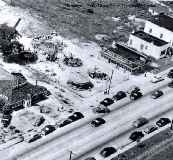 Aerial view of Hempstead Turnpike - Farmingdale Public Library - New