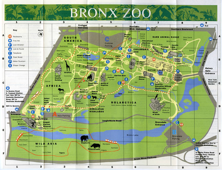 2016-map-014a - WCS Liry, Bronx Zoo Maps - New York Heritage ... on