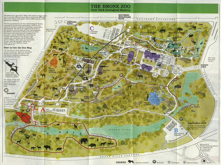 Map Of New York Bronx.2016 Map 018a Wcs Library Bronx Zoo Maps New York Heritage