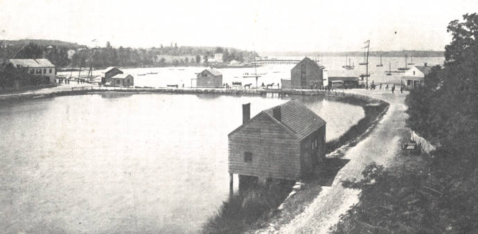 Port Washington and Cow Bay From Mill Pond Road, ca. 1875 - Port ...
