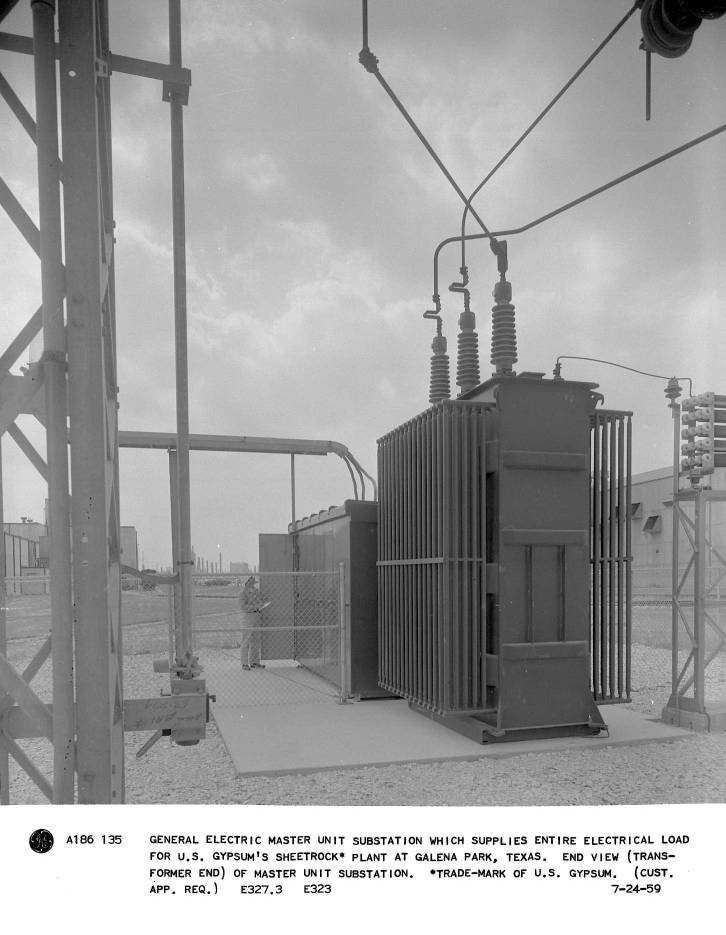 General Electric master unit substation which supplies entire ...